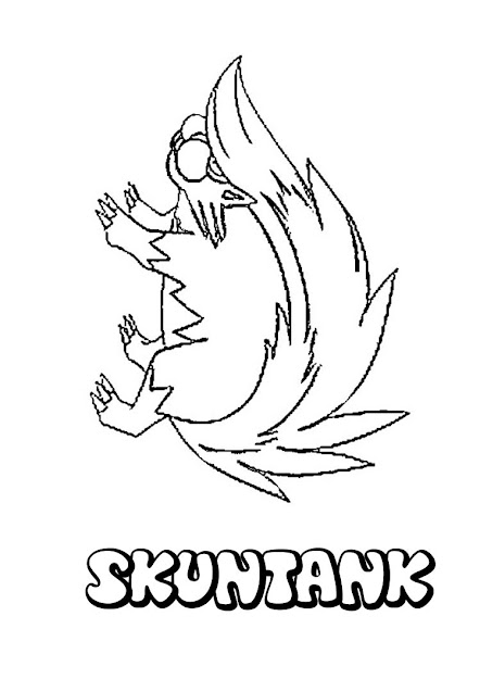 Pokemon Skuntank For Pinterest With Stylish Pokemon Coloring Pages Delphox