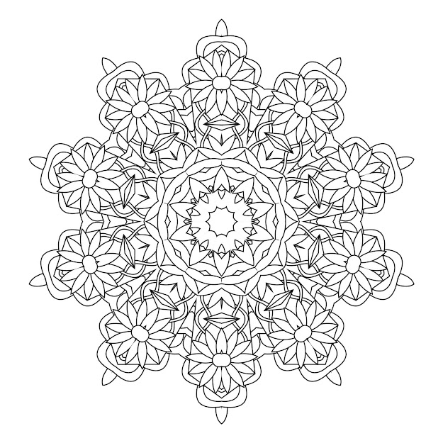 Free Printable Kaleidoscope Coloring Pages Fre