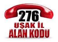 0276 Uşak telefon alan kodu