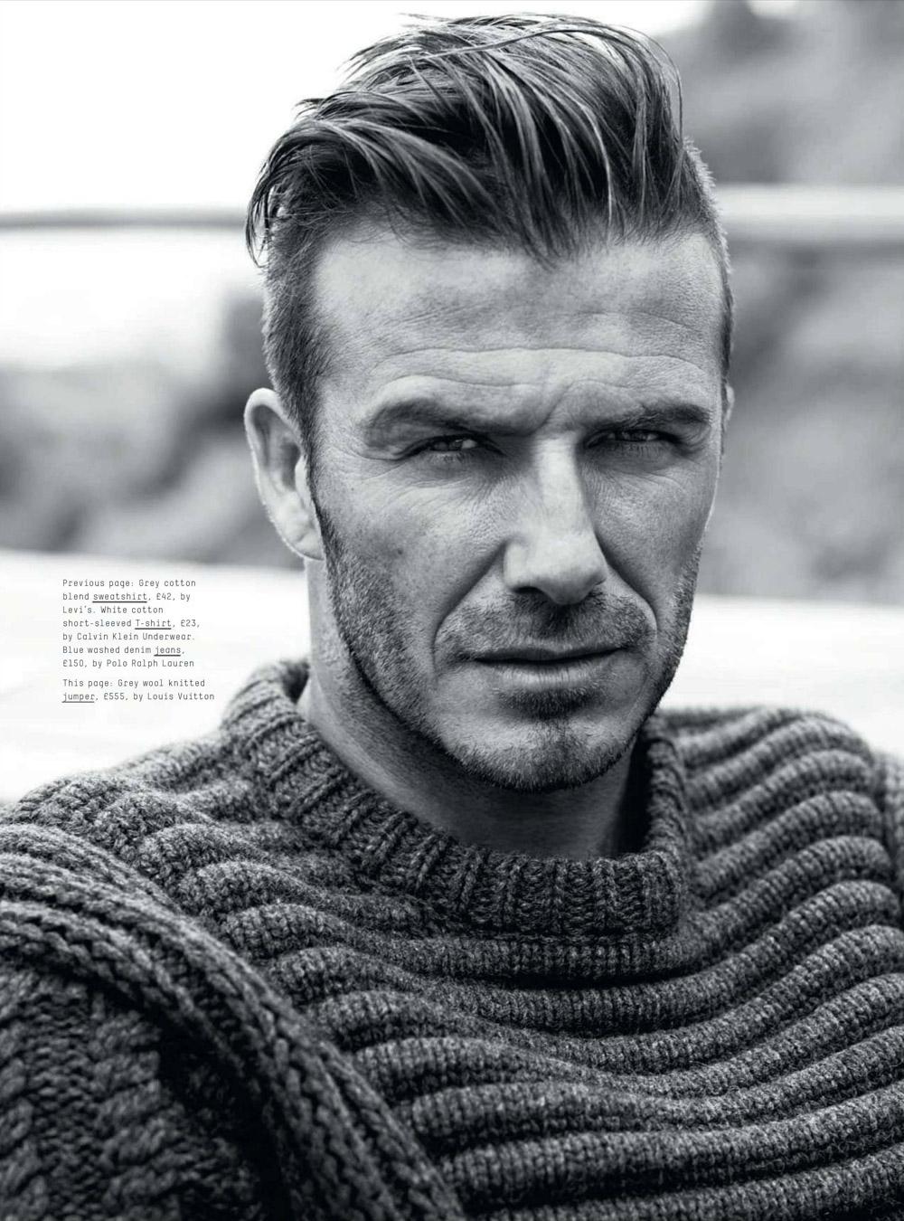 Pleasing David Beckham For Esquire Uk September 2012 Short Hairstyles Gunalazisus