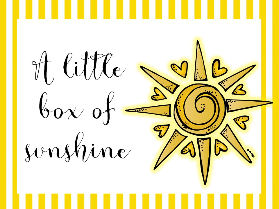 Impeccable image with box of sunshine printable