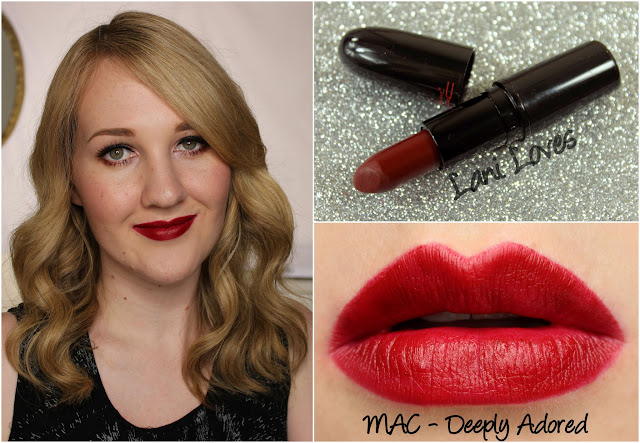 MAC Deeply Adored lipstick swatch