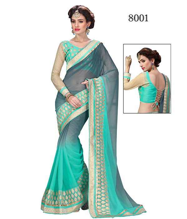 New Heritage 8 – New Designer Saree With Fancy Fabric And Less