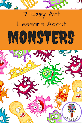 monsters art lessons elementary