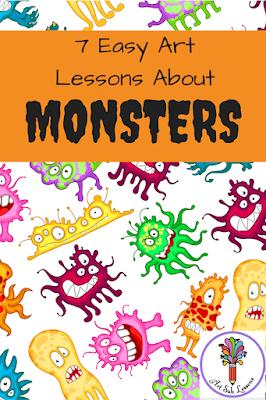 monsters art lessons elementary