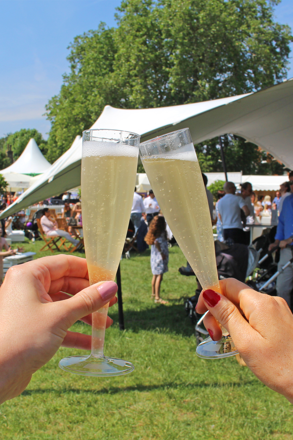 Lanson champagne at Polo in the Park 2018 - London lifestyle blog