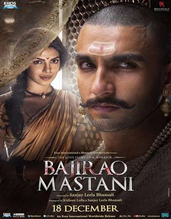 Poster Of Bajirao Mastani 2015 Hindi 475MB DVDRip 720p ESubs HEVC Watch Online Free Download Worldfree4u