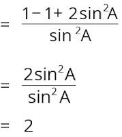 Contoh cara membuktikan identitas trigonometri