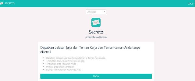 cara mendaftar akun Secreto