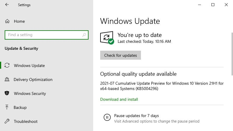 Windows 10 update KB5004296 adds new improvements for Windows 10 version 21H1, Windows 10 version 20H2, and Windows 10 version 2004