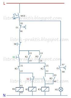 Diagram kontrol pengasutan motor dengan auto trafo