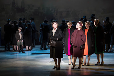 Nico Muhly: Marnie - Diana Montague, Charlotte Beament, Sasha Cooke, Emma Kerr, Katie Stevenson - English National Opera (Photo Richard Hubert Smith)