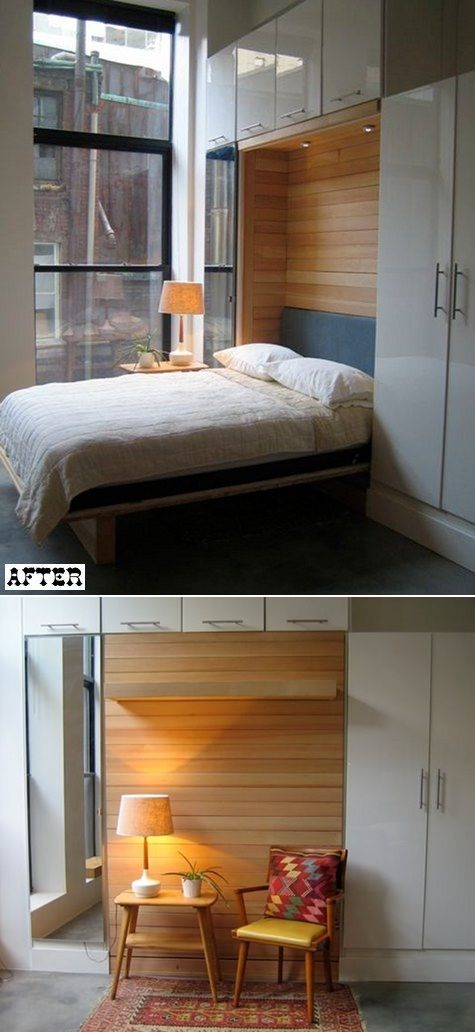 Drop-Down Craft Table Murphy Bed