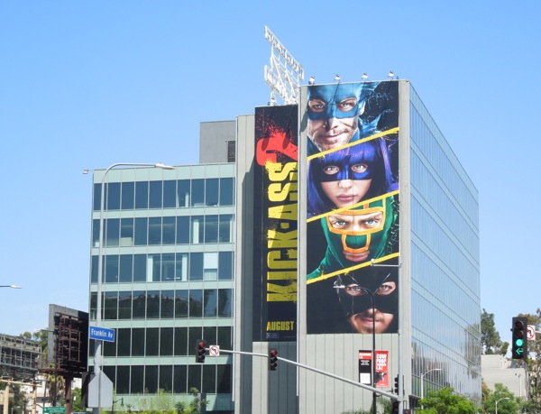 Giant Kick-Ass 2 movie billboard Hollywood