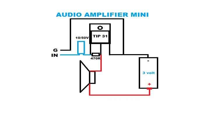 cara merakit audio amplifier mini dengan 1 transistor elektronik. Black Bedroom Furniture Sets. Home Design Ideas