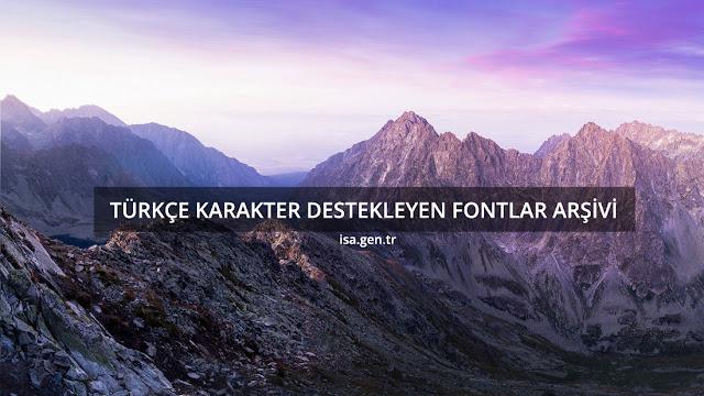 türkçe fontlar