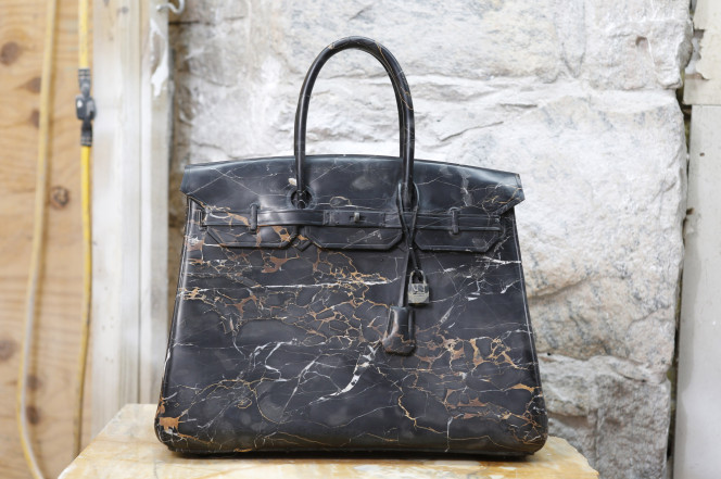 a9bfe838b0f 100-pound stone-carved Birkin bag is still cheaper than the real thing