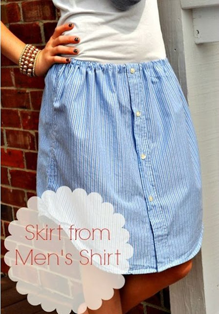 Skirt from a Man's Shirt