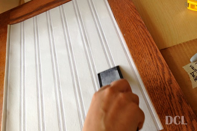 Cabinet Door Beadboard Wallpaper Inlay Discover Create