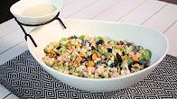 طريقة عمل سلطة البروكلي المقرمشة   Crunchy Broccoli Salad