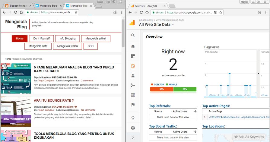 Tes ekstensi Google Analytics Opt out