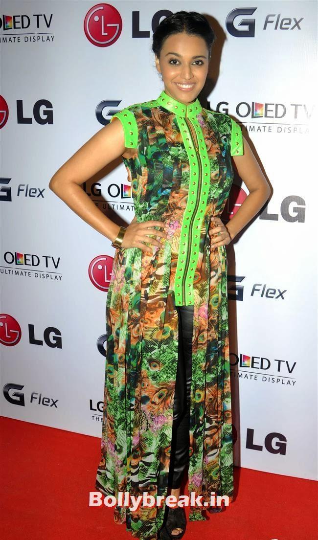 Swara Bhaskar, Celebs at LG G Flex Smartphone Launch