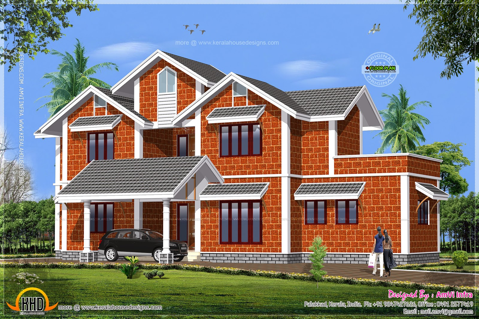 House made of laterite stone kerala home design and for Home plans designs kerala