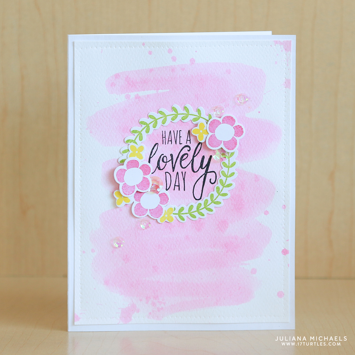 Have A Lovely Day Spring Card Simon Says Stamp