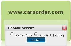 Cara Order Domain Hosting IDwebhost