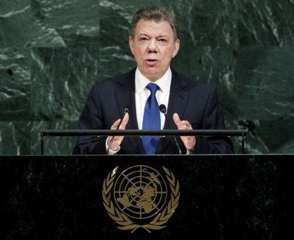 Santos defiende paz en Colombia ante la ONU