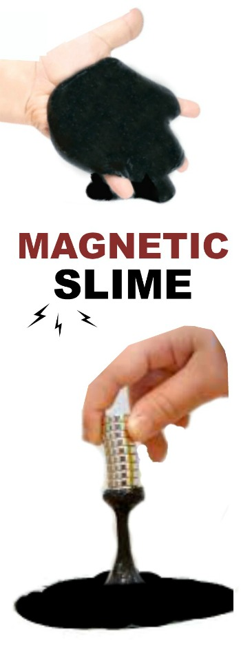 FUN KID PROJECT:  Make magnetic slime! (It's alive!!!!!)