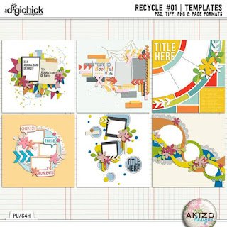 Recycle 01 - Templates - by Akizo Designs