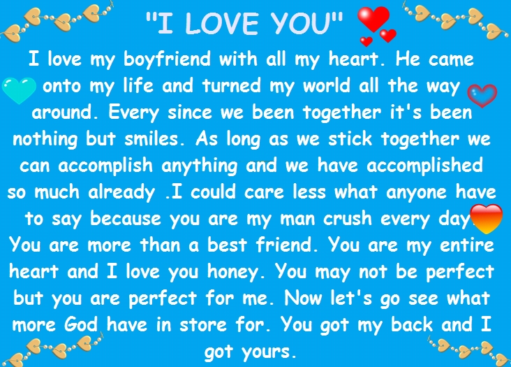 romantic love paragraphs letters for a boyfriend