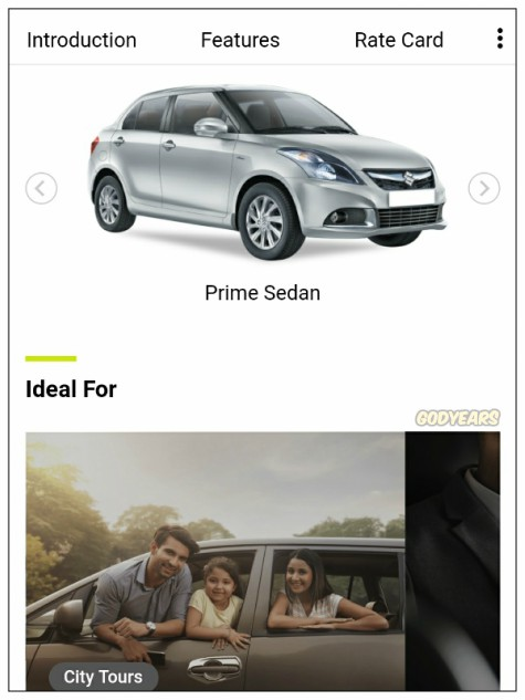 It is really ridiculously simple to book an Ola rental.