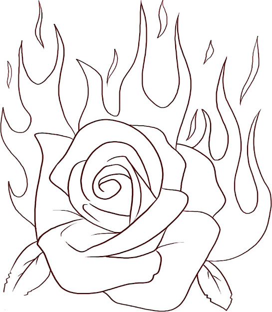 Heart With Roses Coloring Pages Rose Coloring Pages And Book In Roses  Coloring Pages