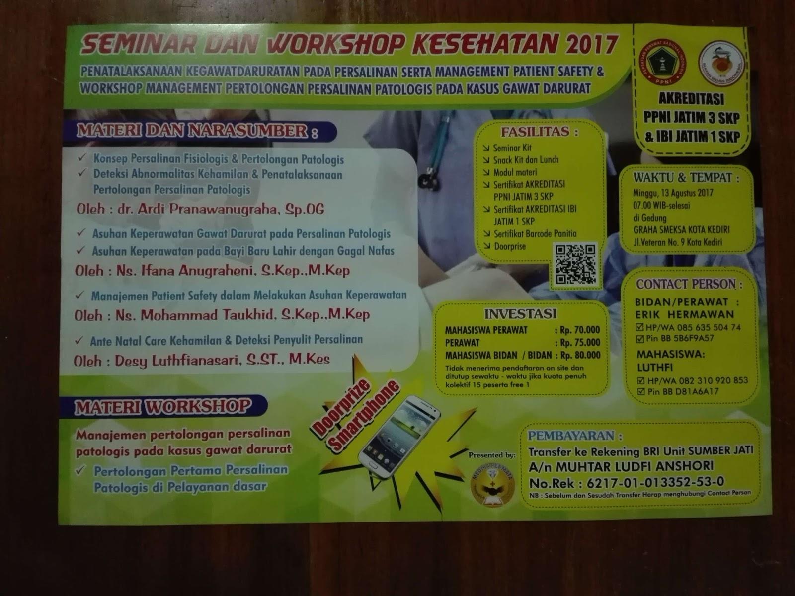Seminar Dan Workshop Kesehatan Agusutus 2017 Kota Kediri