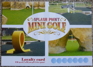 Scorecard from Splash Point Mini Golf in Worthing