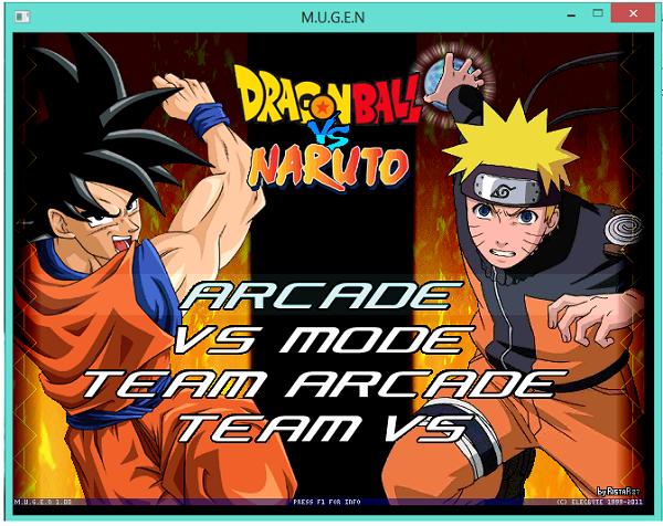 تحميل لعبة Dragon ball vs Naruto  مجانا على حاسوب
