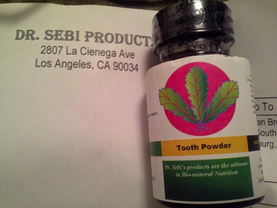 The Vegan Queen: Product Review: Dr Sebi's Herbal Tooth Powder