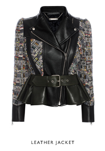 Alexander McQueen Tweed Leather Jacket