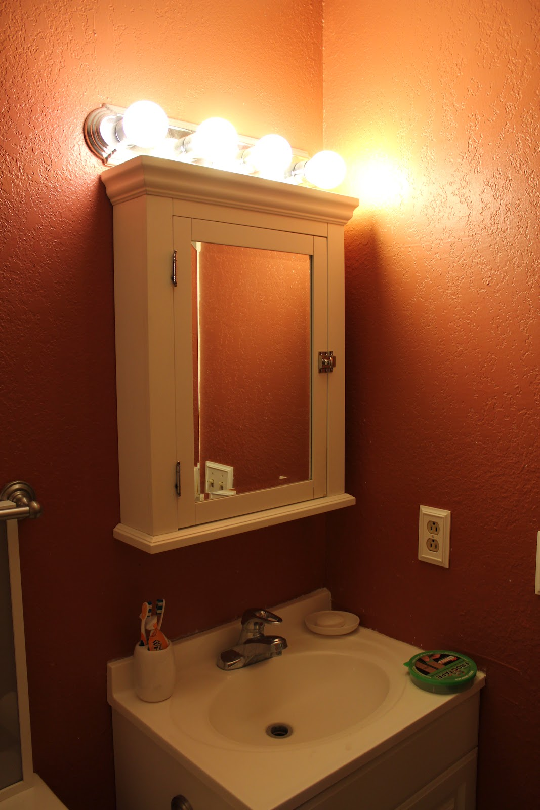 Bath Lighting Over Medicine Cabinet