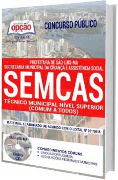 Apostila Concurso SEMCAS São Luís 2018 - Técnico Municipal
