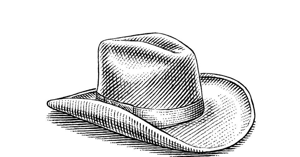 Kovboy şapkası Karakalem çizimleri Karakalem çizimleri Karakalem