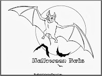 Halloween Bats Kids Coloring Pages