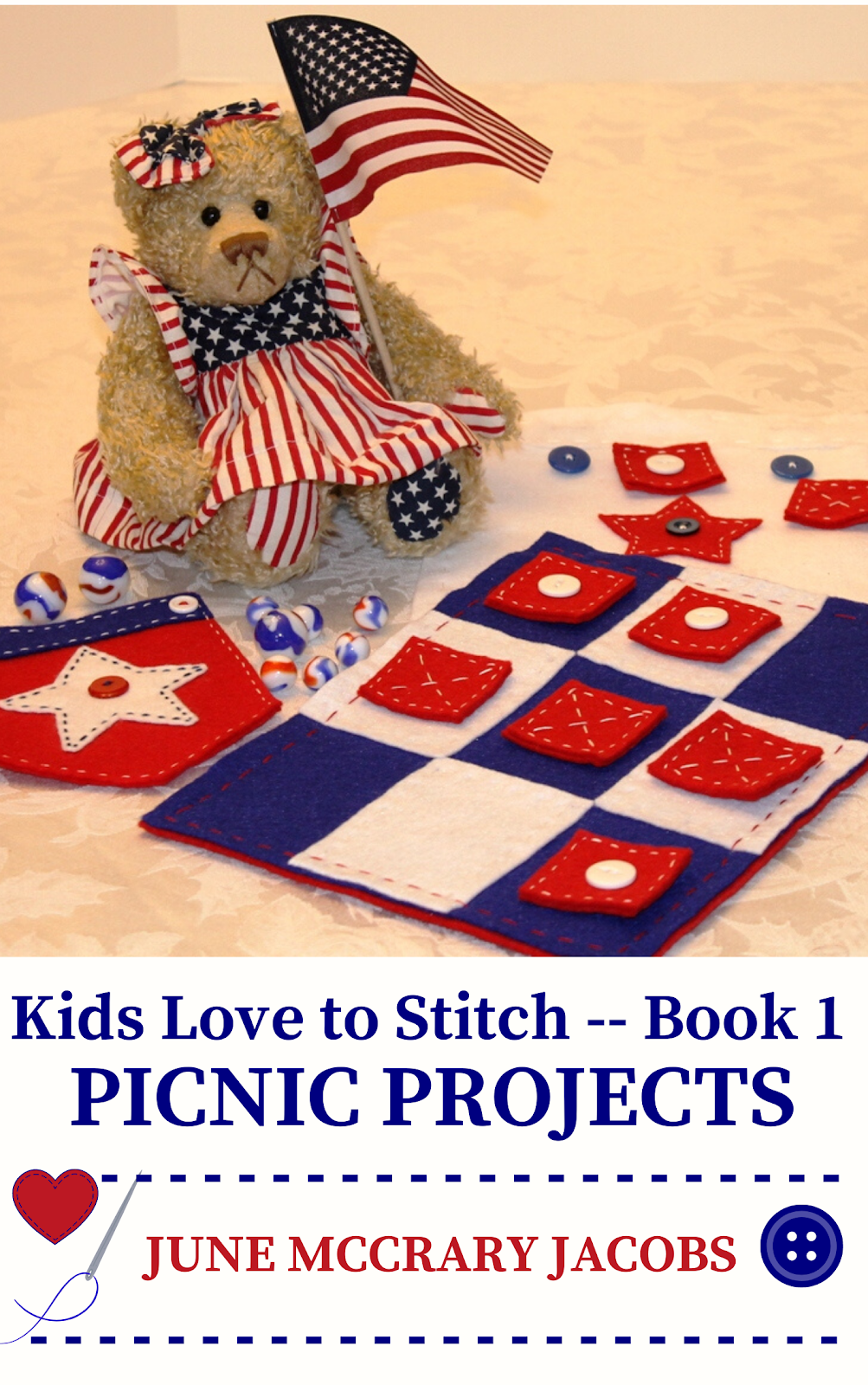 FIND 'KIDS LOVE TO STITCH - BOOK 1:  PICNIC PROJECTS' ON AMAZON.