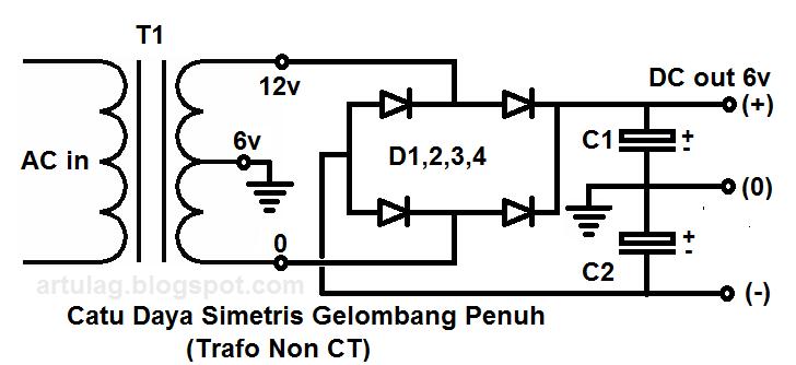 rangkaian catu daya atau power supply