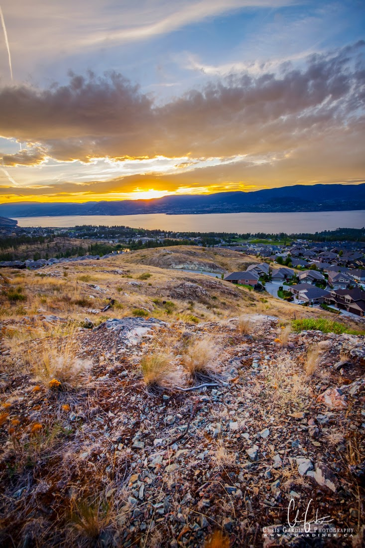 Okanagan Sunset by Chris Gardiner Photography in Kelowna using Luminosity Blending of Multiple Exposures
