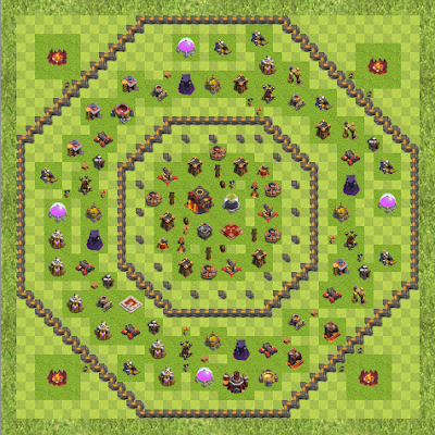 War Base Town Hall Level 10 By flo2mars (:) TH 10 Layout)