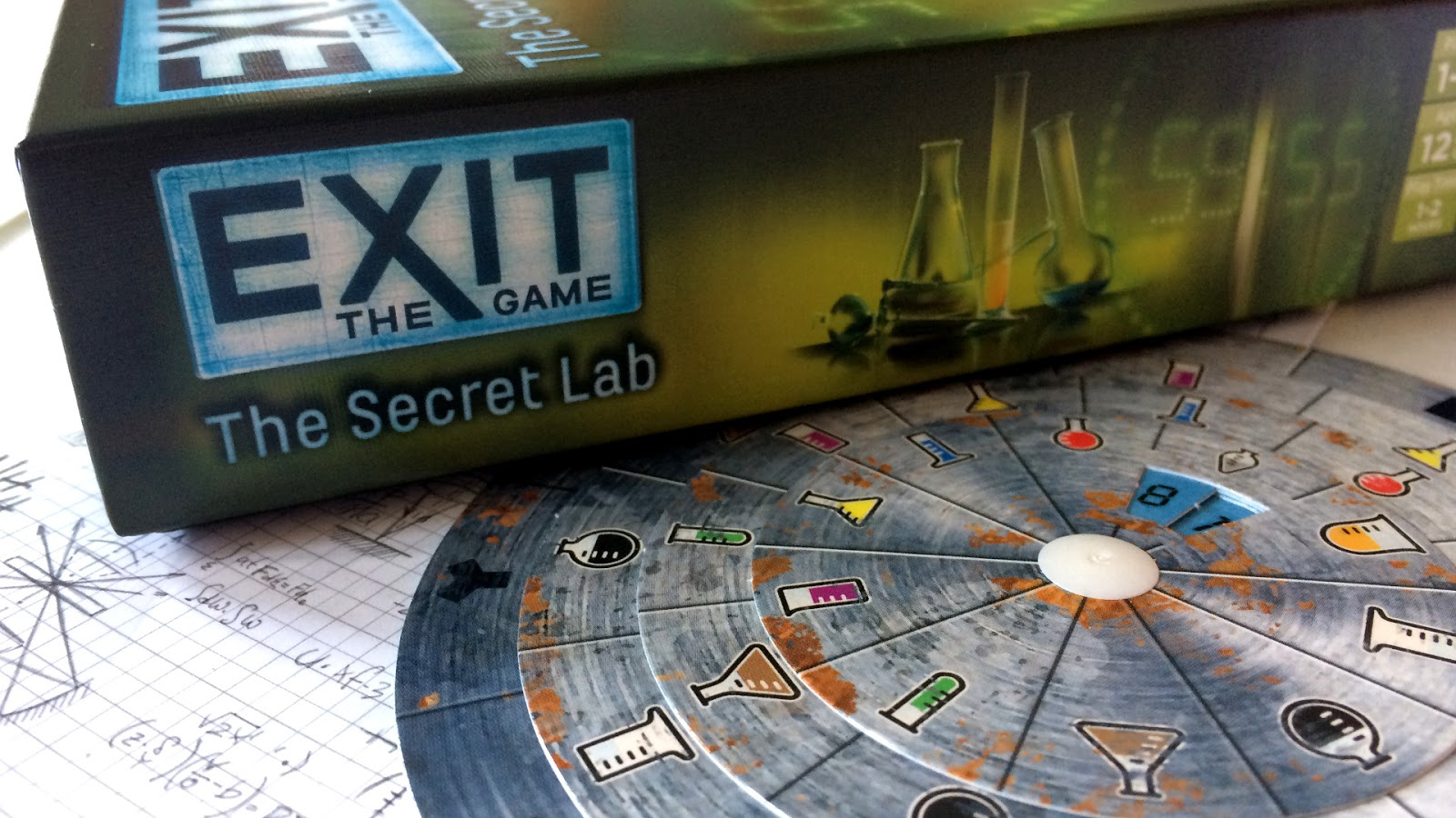Exit the Secret lab escape room board game review