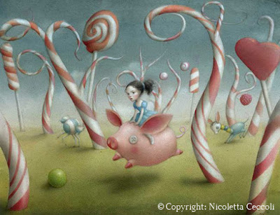 surreal painting from Nicoletta Ceccoli